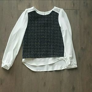 Tops - Tweed Front Blouse XS